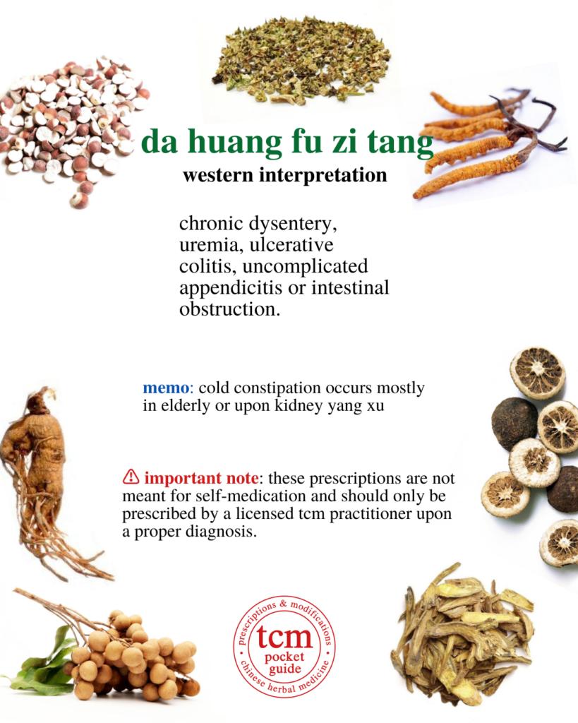 da huang fu zi tang• rhubarb and prepared aconite decoction• 大黃附子汤 western interpretation